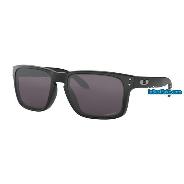 2aeeff2df8 Cheap fake Oakley Holbrook Sunglasses Matte Black with Prizm Grey ...