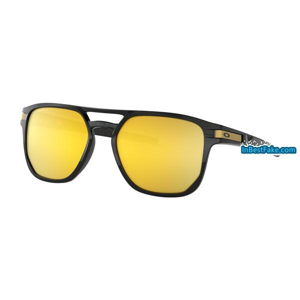 af10bb3da6 Fake Oakley Latch Beta Sunglasses Polished Black with Prizm 24k ...
