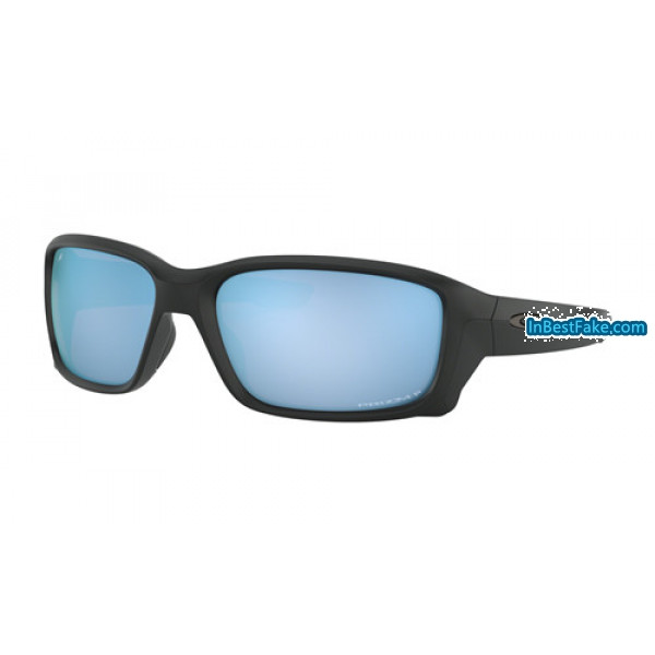 63e2e9bbd3 Fake Oakley Straightlink Sunglasses Matte Black with Prizm Deep ...