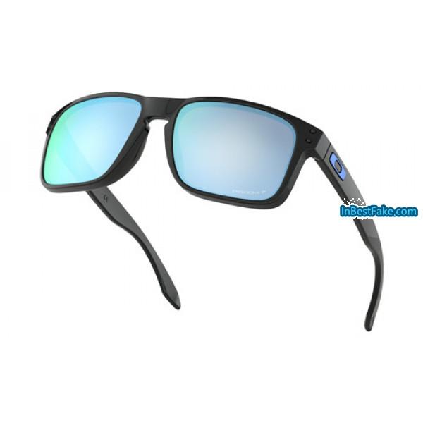 a04c1e850e4 Foakley Holbrook Sunglasses Polished Black with Prizm Deep Water ...