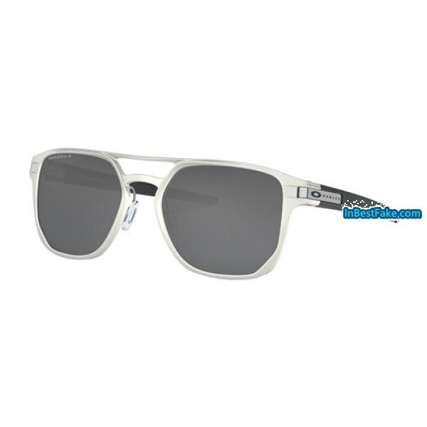 7eecbcaf2c7 Oakley Latch Alpha Sunglasses Matte Silver with Prizm Black ...