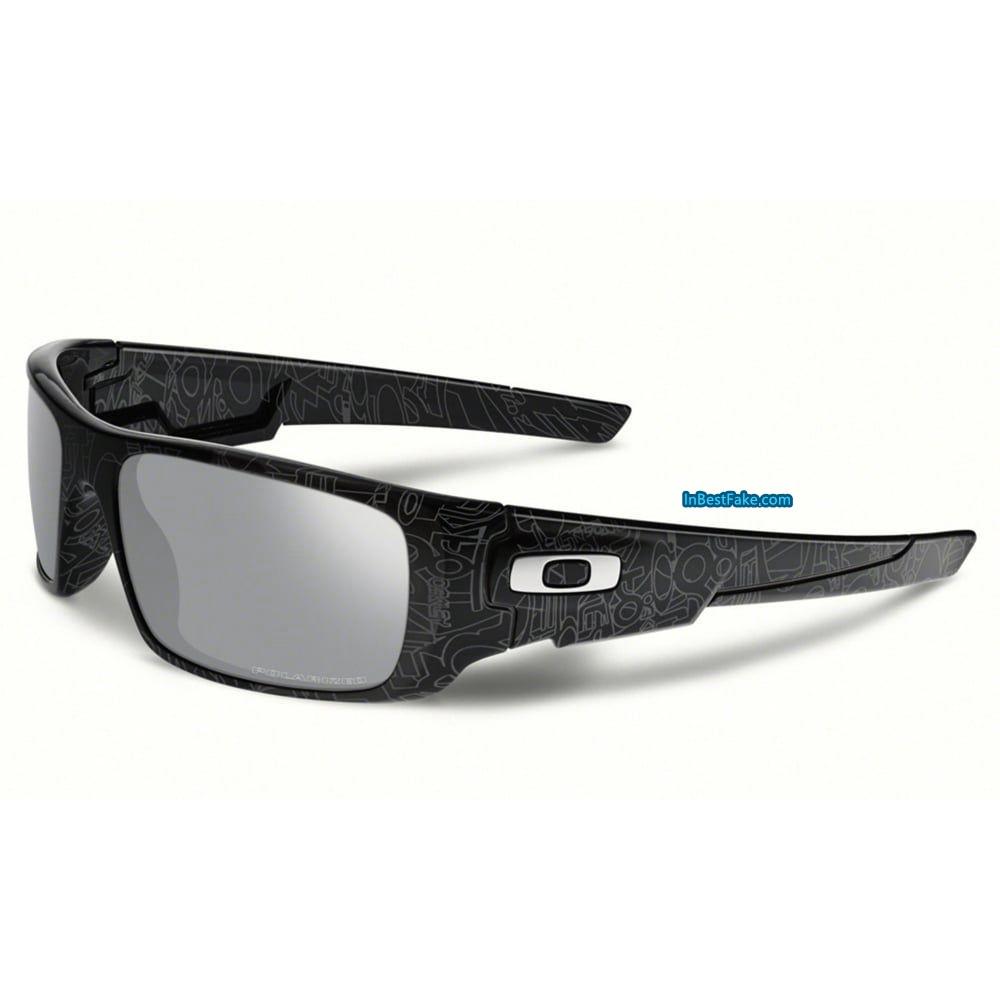 01db61542b Oakley Crankshaft Black Silver Text   Chrome Iridium Polarized Lens - Fake  Oakley sunglasses