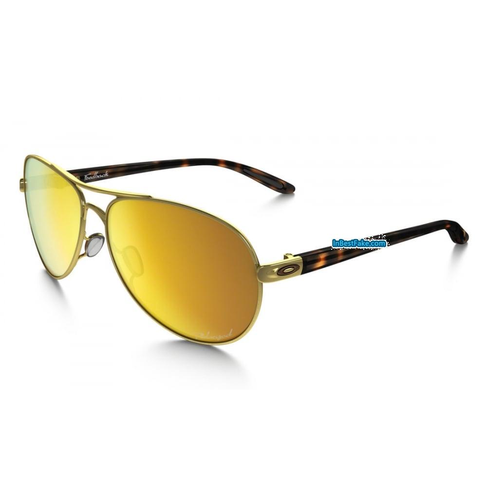 600ab661c5 Oakley Feedback Women Sunglasses Polished Gold with 24k Iridium Polarized  Lens - Fake Oakley sunglasses
