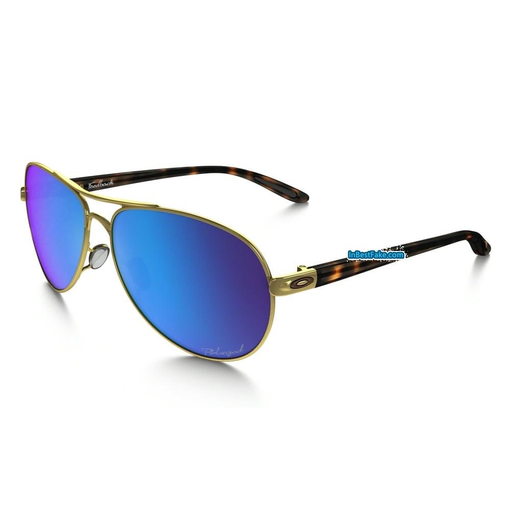 7f32a3dc79 Oakley Feedback Women Sunglasses Polished Gold with Sapphire Iridium  Polarized Lens - Fake Oakley sunglasses