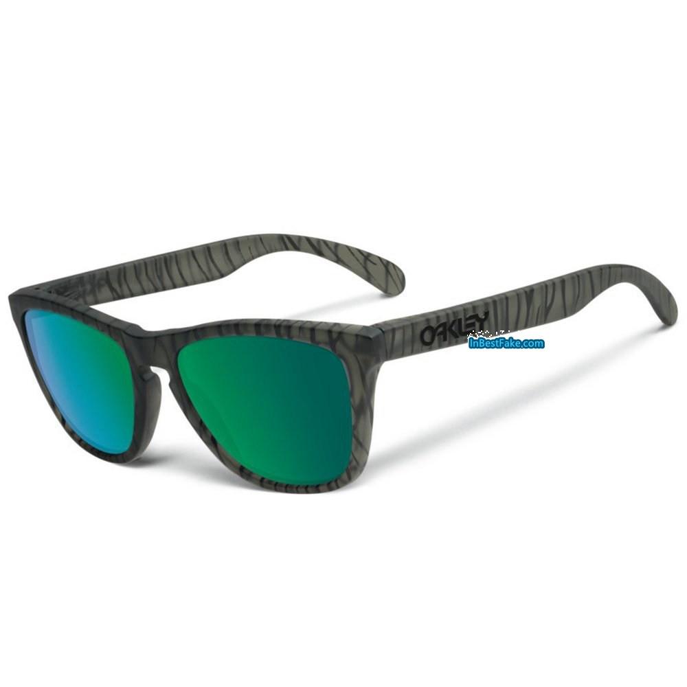 1a0988b1ac Oakley Frogskin Sunglasses Matte Olive Ink   Jade Iridium Lens - Fake Oakley  sunglasses