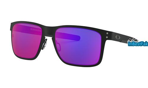 3a6cbccafd0 Knockoff Oakley Holbrook Metal Sunglasses Matte Black with Positive Red  Iridium Lens - replica Oakleys