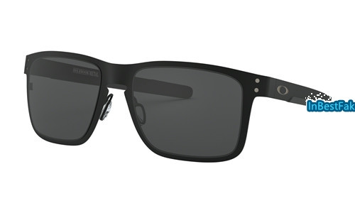 46a4e719f2 Replica Oakley Holbrook Metal Sunglasses Matte Black with Grey Lens - fake  Oakleys