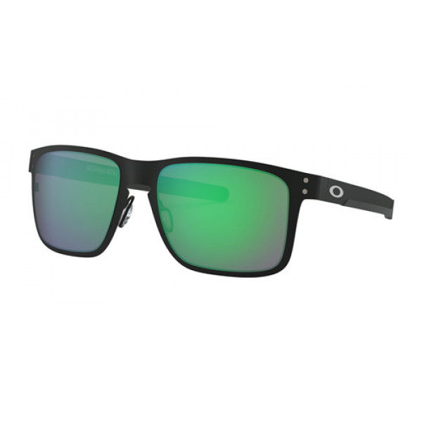 0b4ef628bb3 Fake Oakley Holbrook Metal Sunglasses Matte Black with Jade Iridium ...