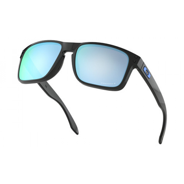 6c80050e8e8 Foakley Holbrook Sunglasses Polished Black with Prizm Deep Water ...