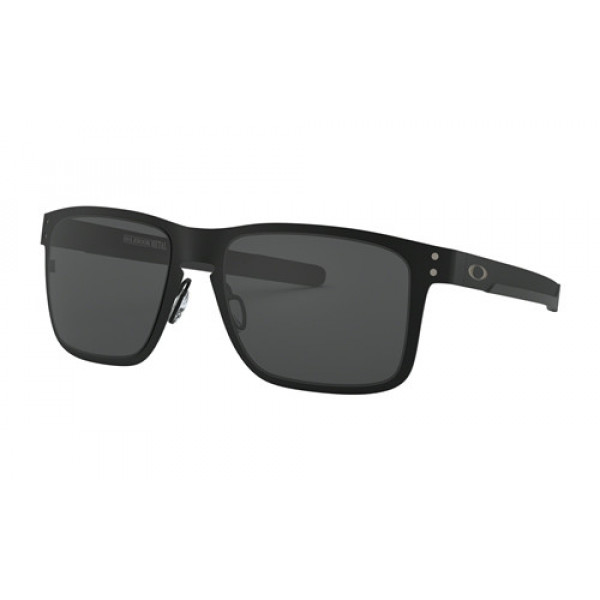afe0ceca455 Replica Oakley Holbrook Metal Sunglasses Matte Black with Grey Lens ...